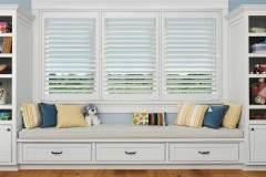 Hunter Douglas Window treatment and Closet Works Storage