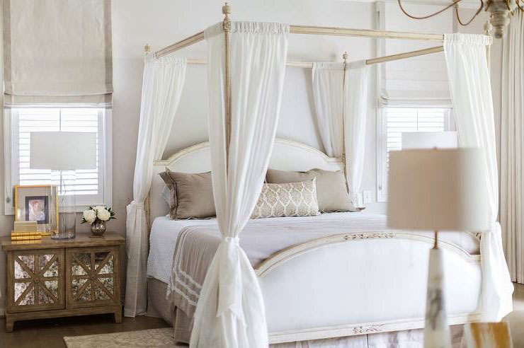 Features A White French Canopy Bed